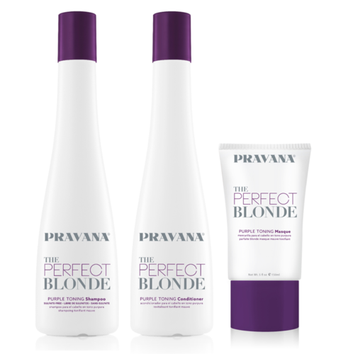 Pravana The Perfect Blonde Shampoo, Conditioner och Masque